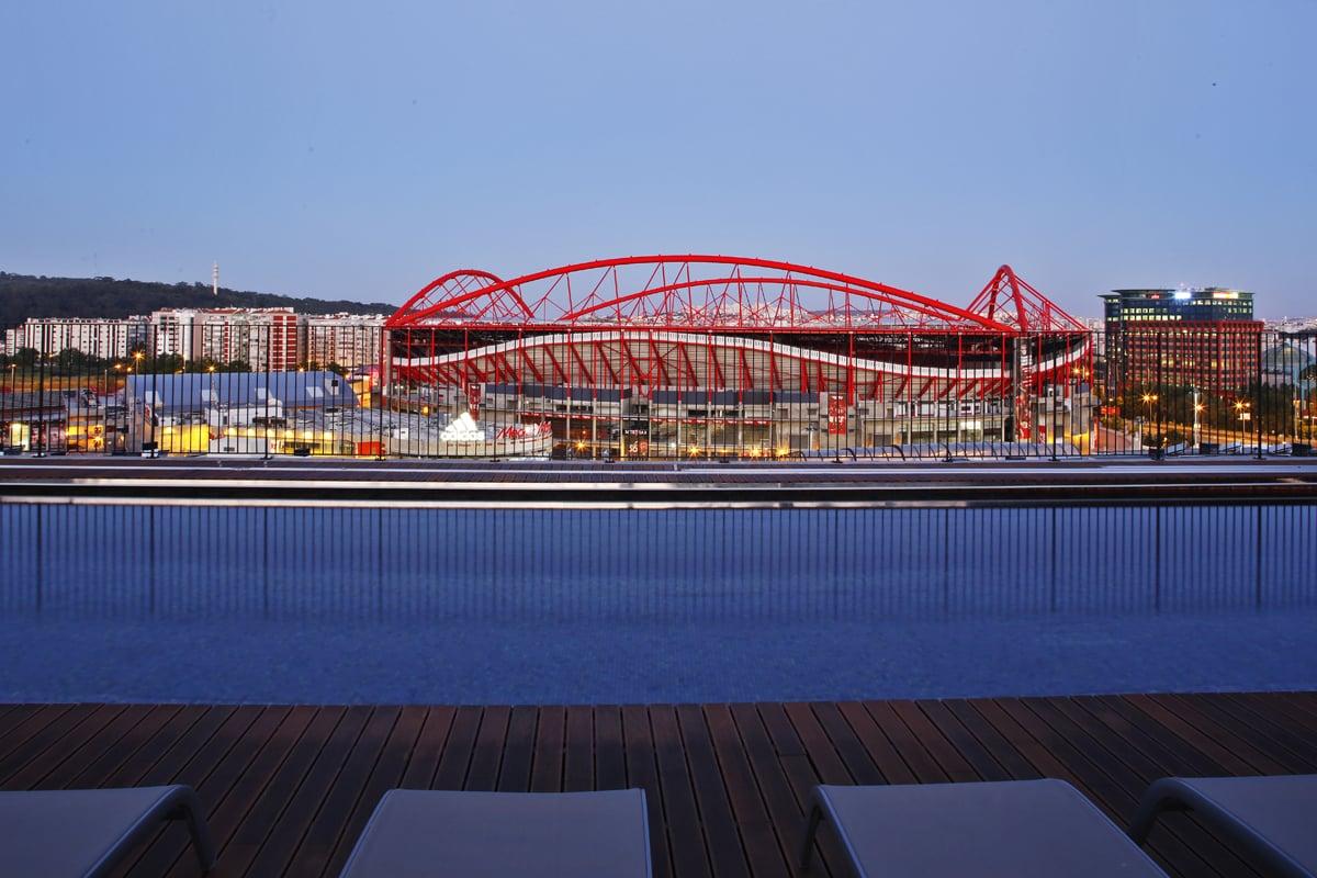 Vista sobre o Estádio da Luz